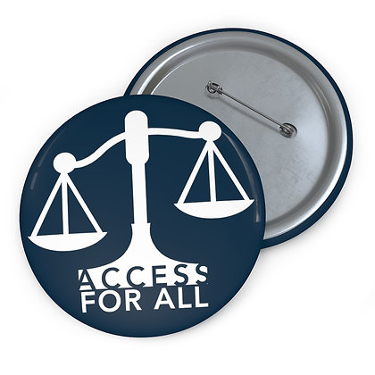 "Access for All 3"" Button Navy"