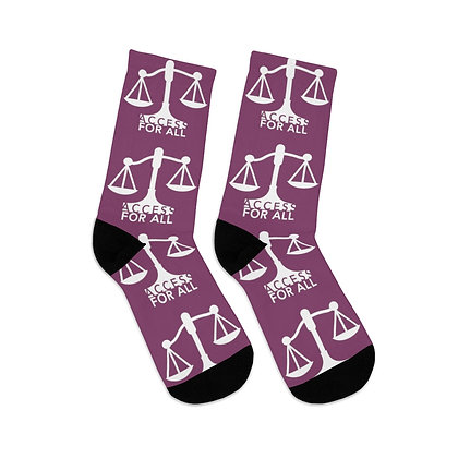 Access for All Cranberry Logo Socks