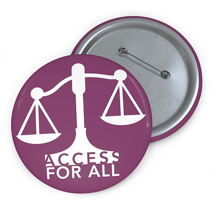 "Access for All 3"" Button Cranberry"