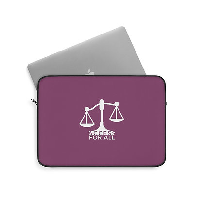 "Access for All 13""/33 cm Cranberry Laptop Sleeve"