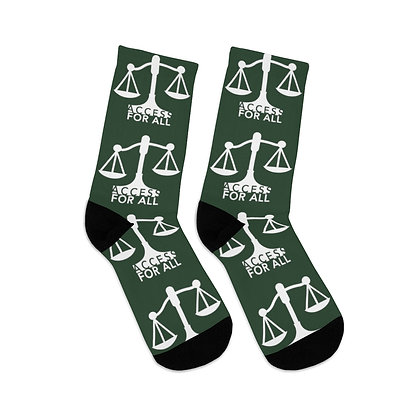 Access for All Forest Green Logo Socks