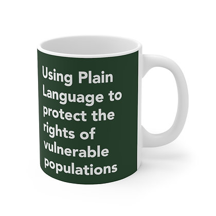 Using Plain Language to protect the rights of vulnerable populations Mug Olive