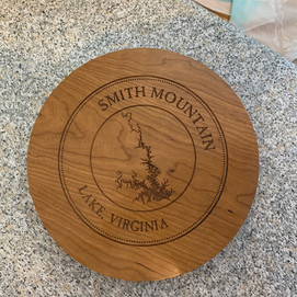 Solid Cherry Lazy Susan