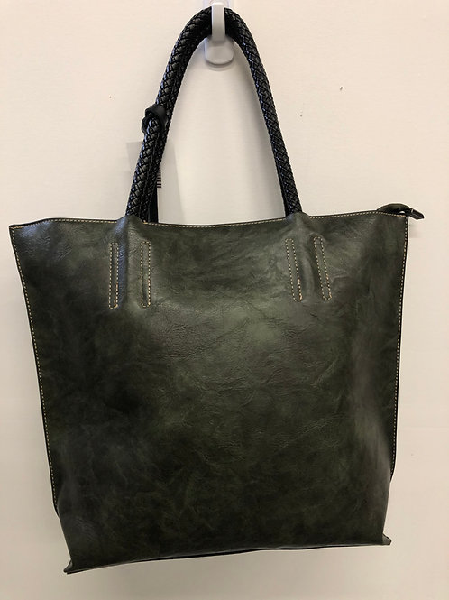 Dark Green Leather Purse