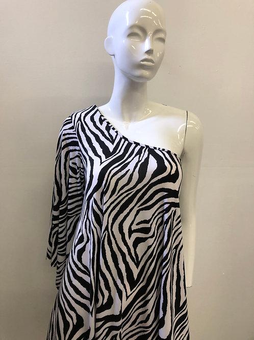 Zebra off the Shoulder Blouse