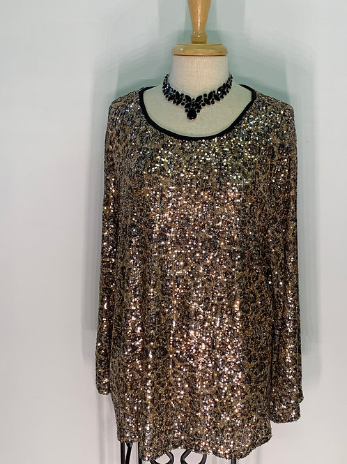 Sequin Cheetah Top