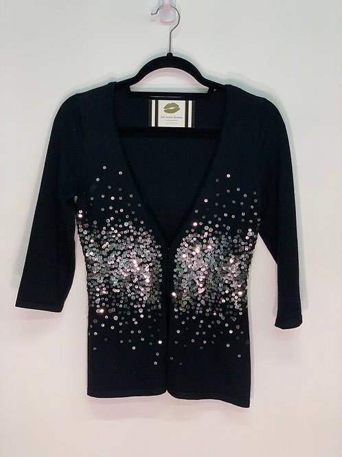 Black Sweater w/ Gem Stones