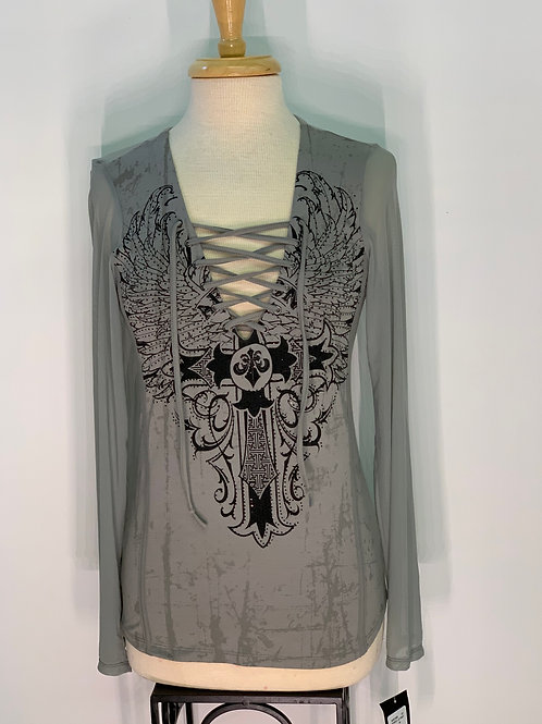 Gray Cross Affliction Top