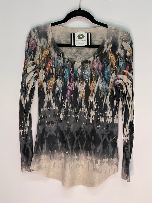 Feather Long Sleeve Top
