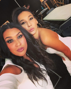 Briana Lee and Kelci Hahn backstage at The Voice, NBC