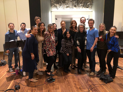 Soprano Choir and composer Nathan Barr at session for Carnival Row