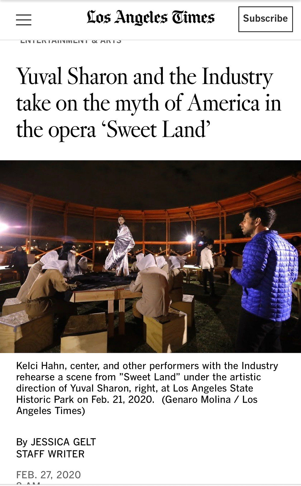 Kelci Hahn, LA Times, The Industry Opera, Sweet Land