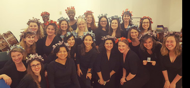 Britten's floral choral with ladies of LAMC