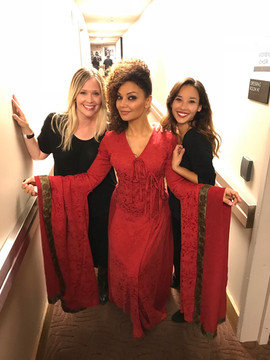 Suzanne Waters, Stevvi Alexander, Kelci Hahn backstage after Game of Thrones Live
