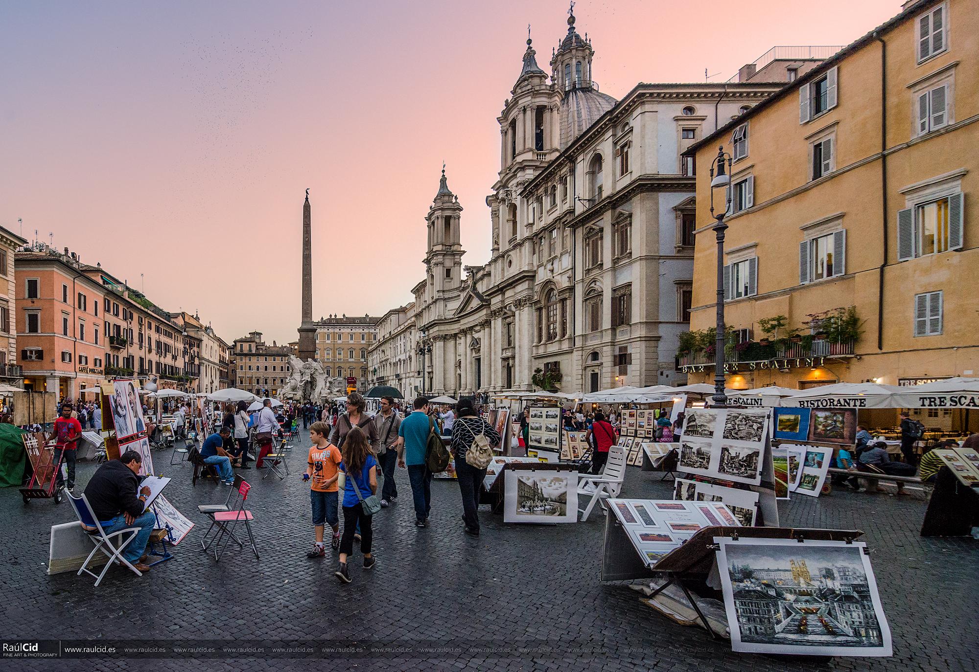Piazza Navona al atardecer