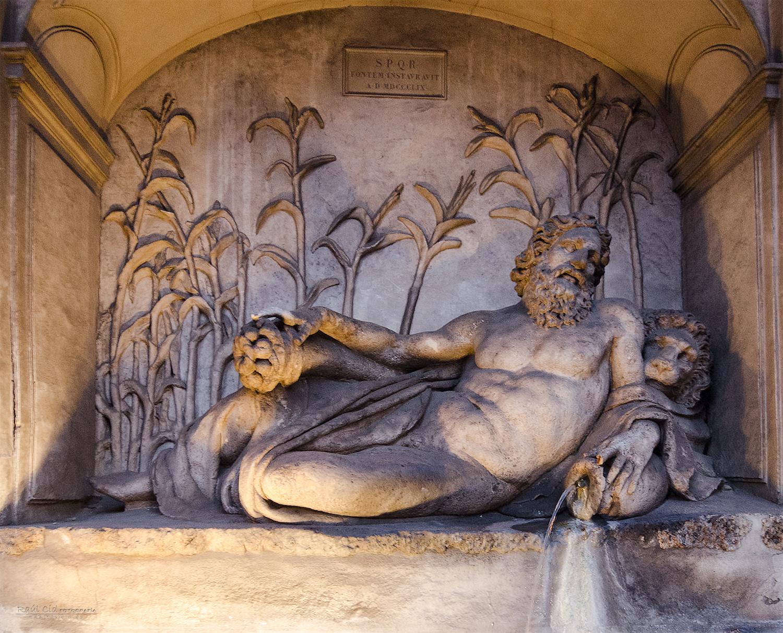 Una de las fuentes Quattro Fontane