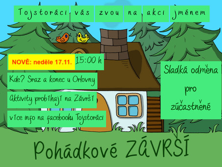 Další změna - Nový termín Pohádkové Závrší v neděli 17.11.
