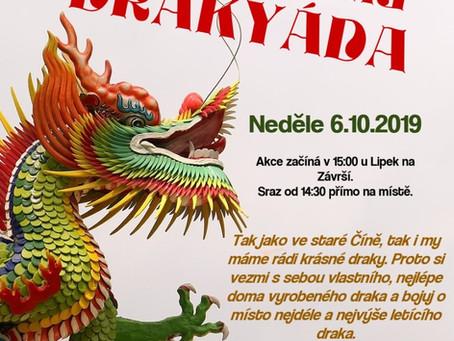 Drakyáda bude v novém termínu tuto neděli 13.10.!