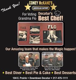 Voted Decatur's Best Chef