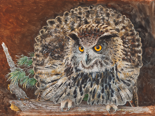 Allen Blagden-Boutiqueart-The Guardian-Museum Quality Art Prints|Owl Print