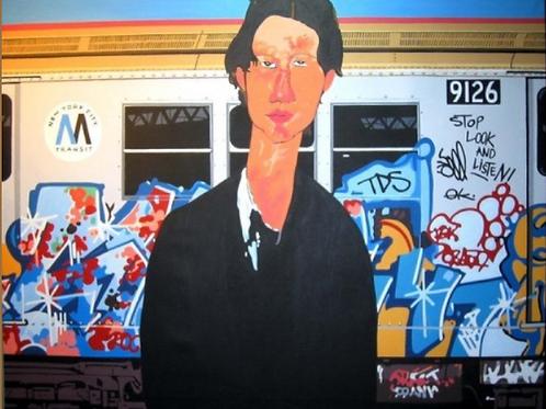 Salvatore Gulino boutiqueART boutiqueartprints.com Subway (after Modigliani)
