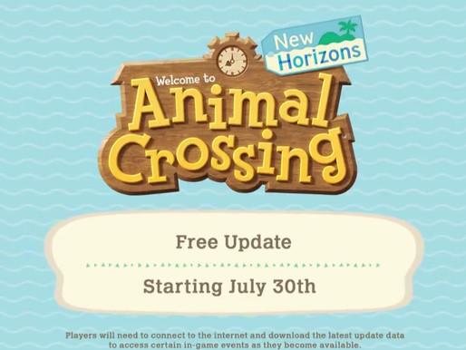 Nova atualização em Animal Crossing - Summer Update Wave 2