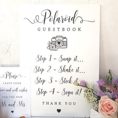 Polaroid Guest Book from £40.00 | Wedding Stationery | Derbyshire ...
