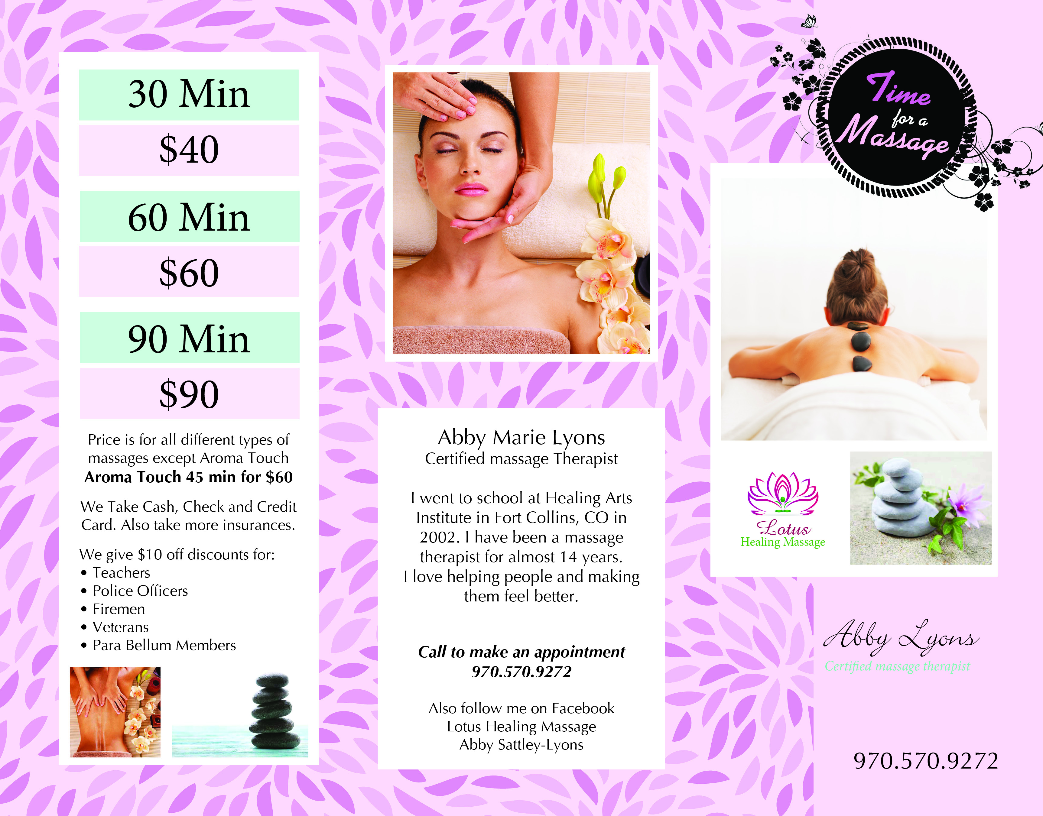 Lotus Healing Massage Brochure