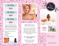 Lotus Healing Massage Brochure