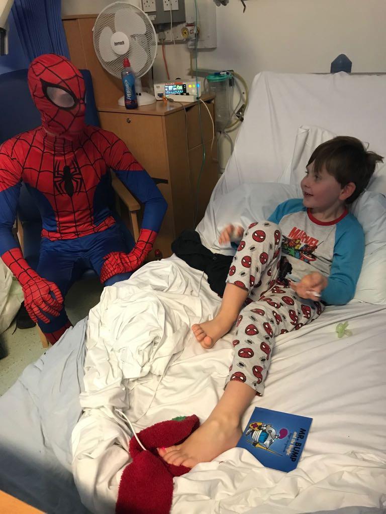 Spider-Man discussing webslinging activities!