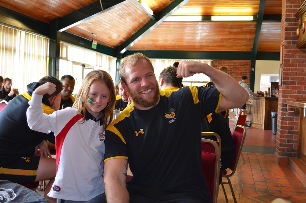 At his Sporting Wish Rossi got to meet his hero James Haskell