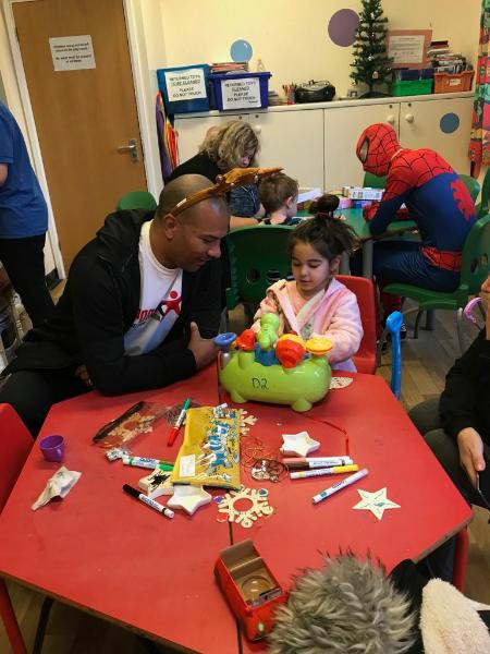 We had a great time reading stories and playing games with the children at Addenbrookes