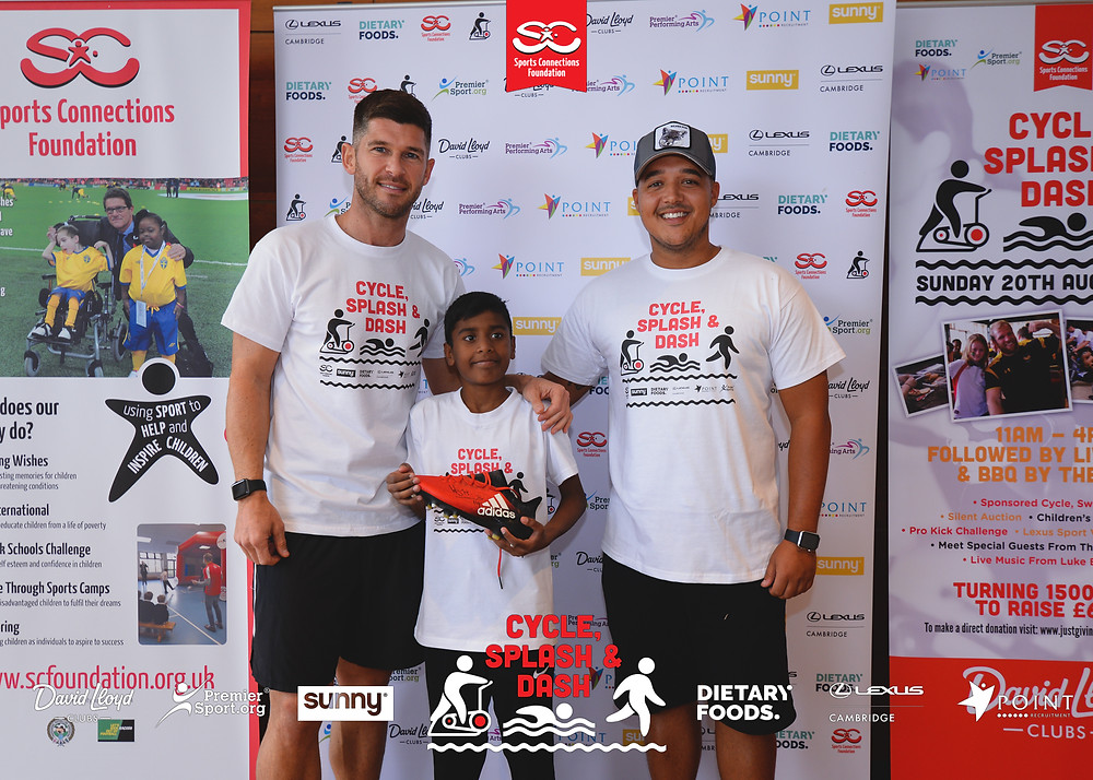 Charity Champion Gareth Simpson with Raihan, one of our Sporting Wish recipients