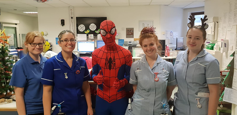 Spider-Man meets the staff!