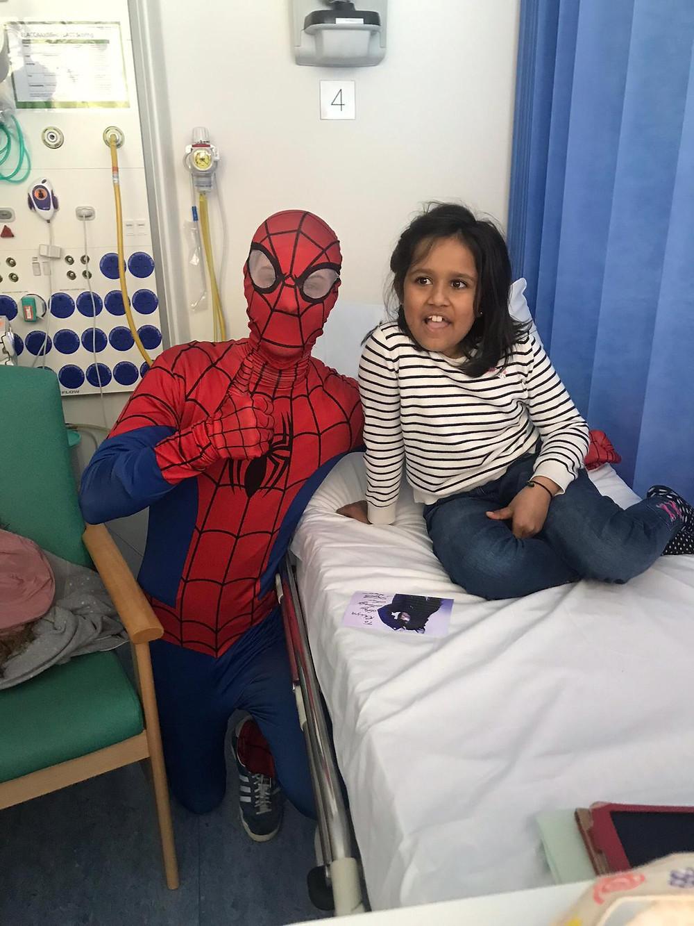 Spider-Man making new friends!