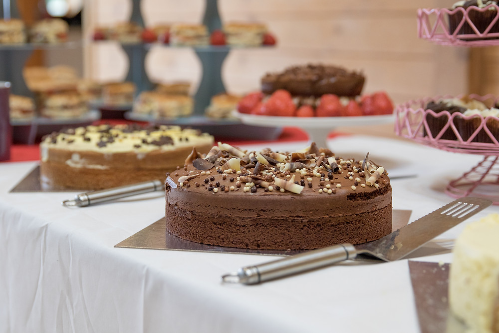 We had a great selection of cakes for those who joined us