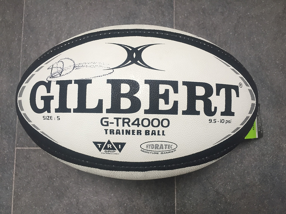 Gilbert rugby ball signed by 4 England Internationals