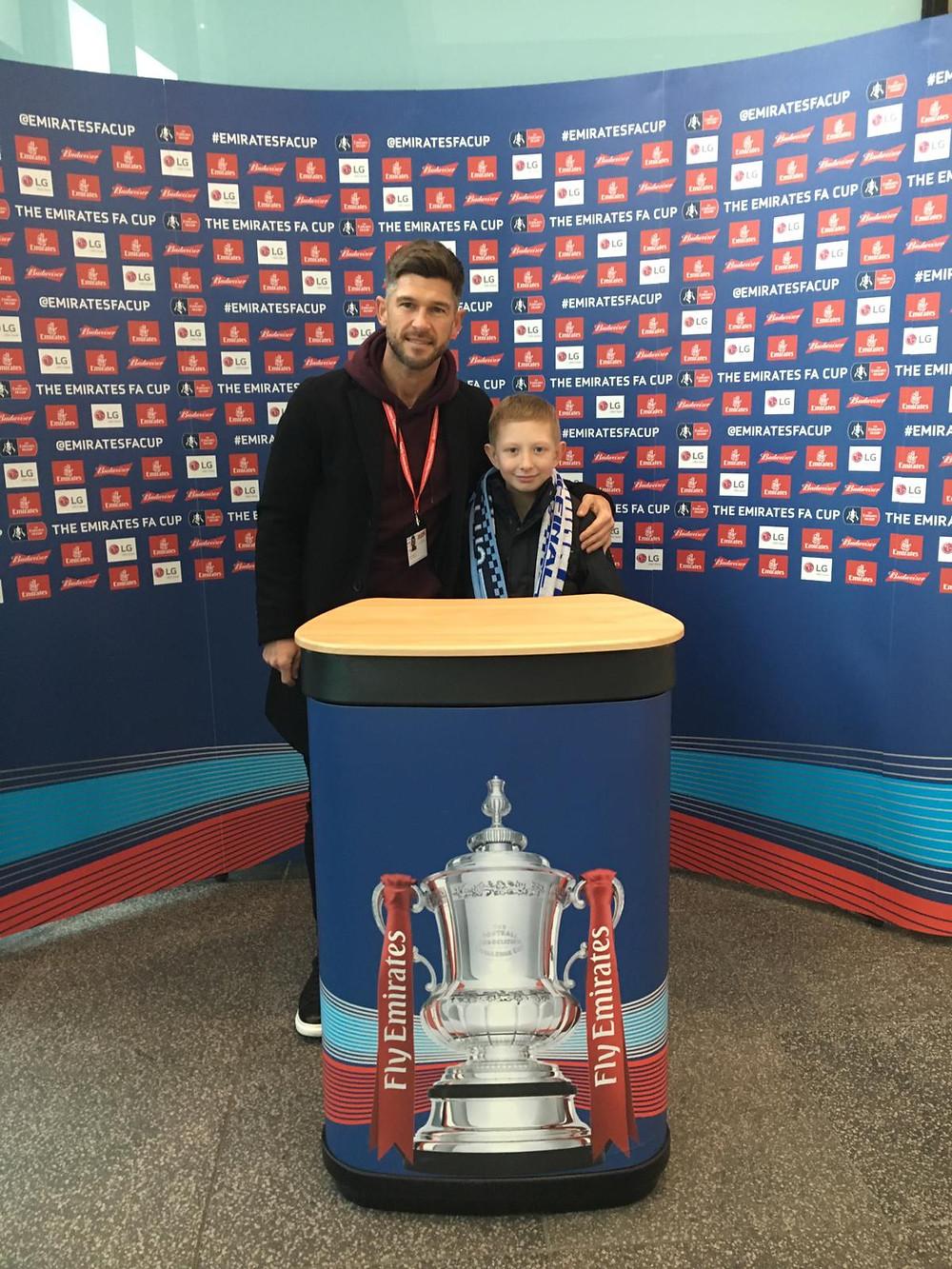 Raymond with Charity Champion Gareth