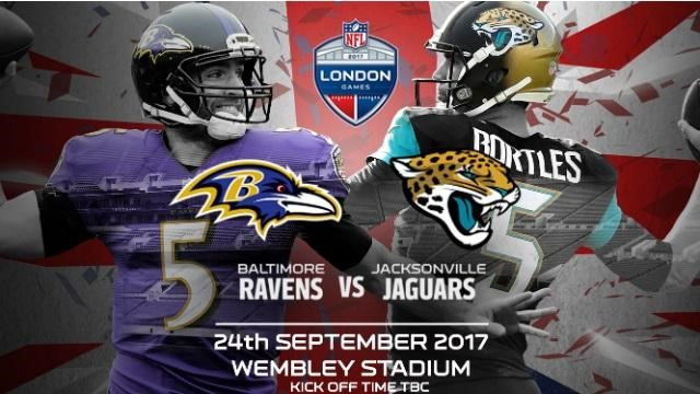 2x tickets to Wembley to watch Baltimore Ravens vs. Jacksonville Jaguars in their NFL match