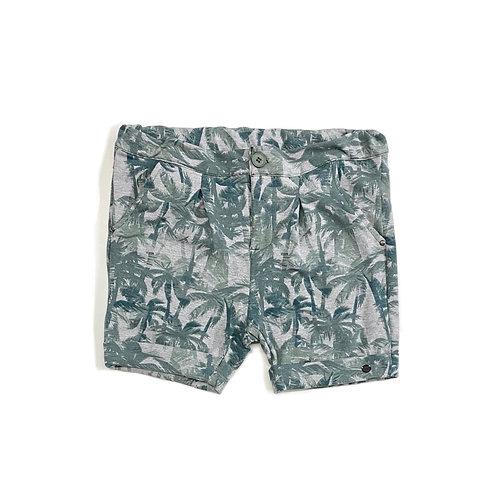 Shorts de Coqueiros Verde e Cinza