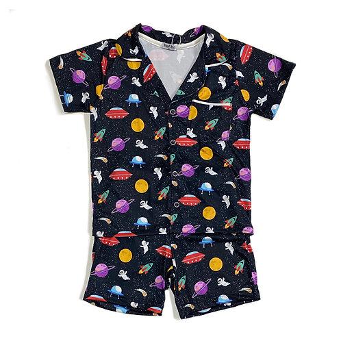 Pijama de Malha de Espaço Sideral