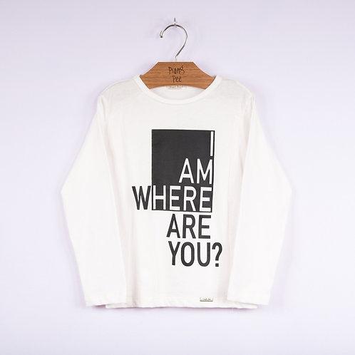 Camiseta Offwhite com Estampa Localizada