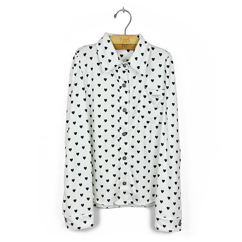 Camisa Offwhite de Corações