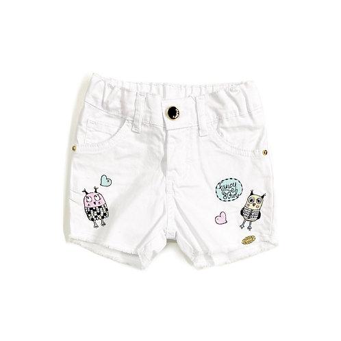 Shorts de Sarja de Corujinhas