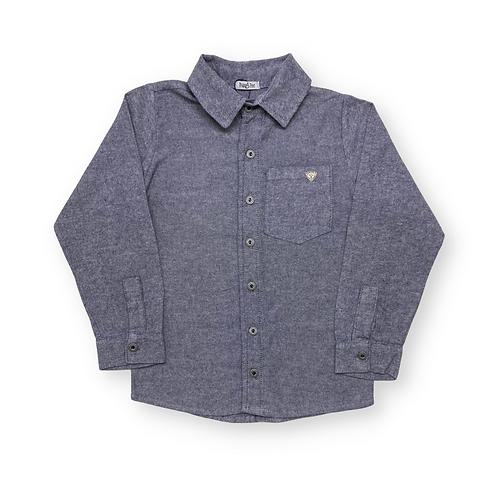 Camisa de Flanela Azul Marinho