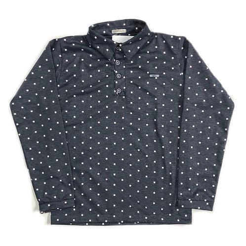 Camiseta Polo de Quadradinhos