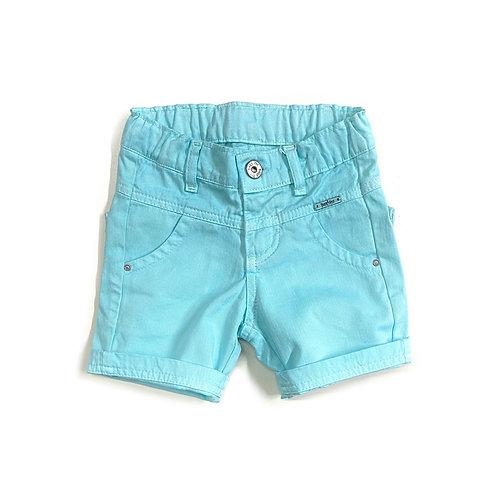 Shorts de Sarja Azul Piscina