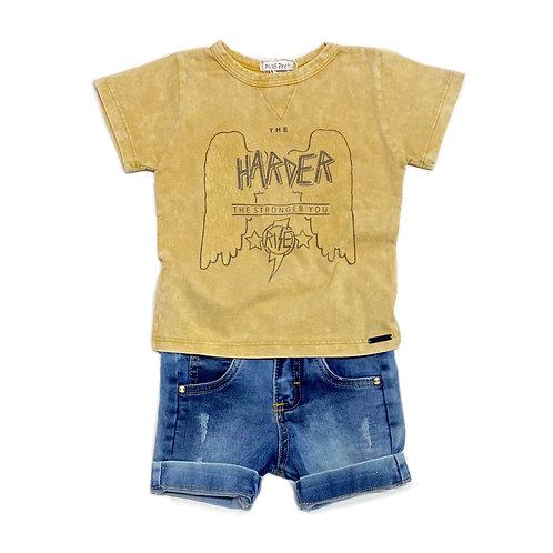 Camiseta + Shorts Jeans