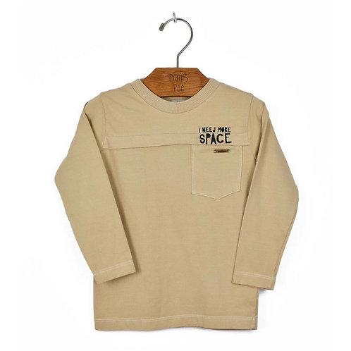 Camiseta Camel com Bordado