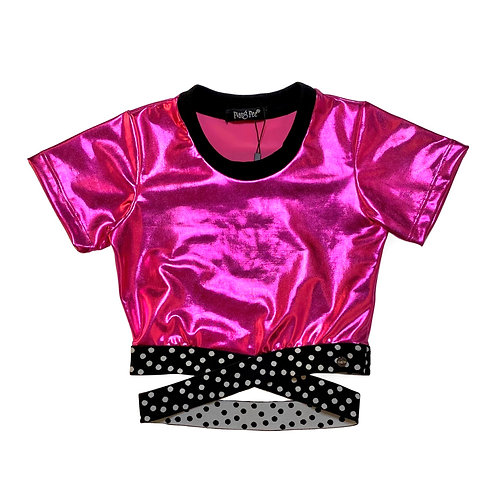 Cropped Pink Metalizado